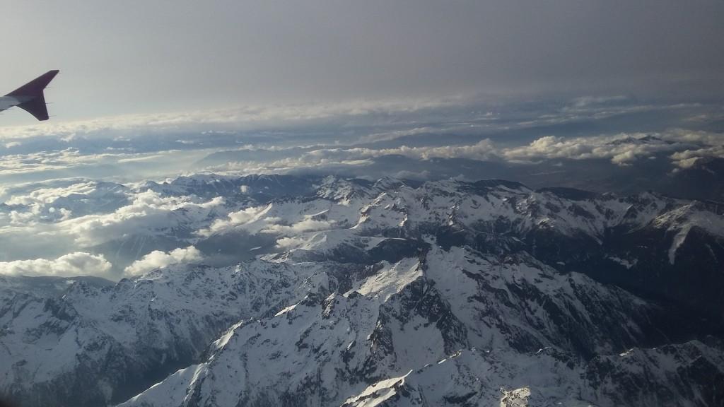 Přelet přes Alpy
